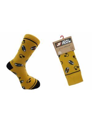 Носки мужские JOHN FRANK. Цвет: желтый