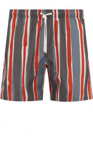 Плавки-шорты в полоску Ermenegildo Zegna. Цвет: серый