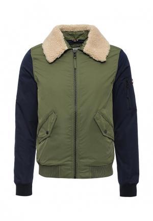 Куртка утепленная Tommy Hilfiger Denim. Цвет: зеленый