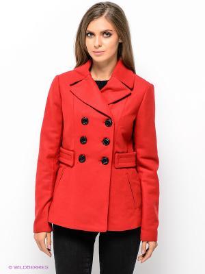 Полупальто Vero moda. Цвет: красный