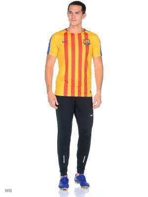 Футболка FCB M NK DRY SQD TOP SS GX Nike. Цвет: золотистый