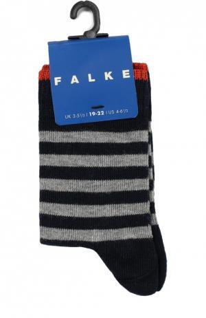 Носки в полоску Falke. Цвет: темно-синий