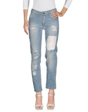 Джинсовые брюки GIORGIA & JOHNS. Цвет: синий