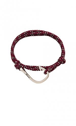 Веревочный браслет с застёжкой на крючок Miansai. Цвет: вишня