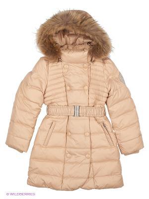 Пальто Baby Line. Цвет: бежевый