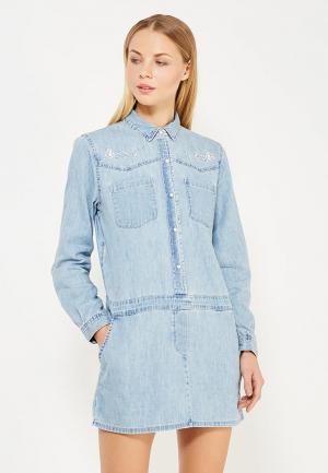 Платье джинсовое Juicy by Couture. Цвет: голубой