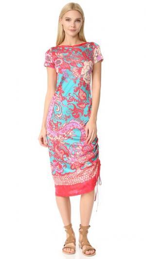 Платье с короткими рукавами Fuzzi. Цвет: фуксия