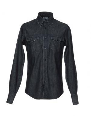 Джинсовая рубашка CAMOUFLAGE AR AND J.. Цвет: синий