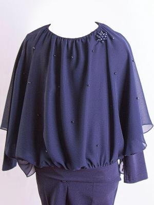 Блузка Карамелли. Цвет: темно-синий