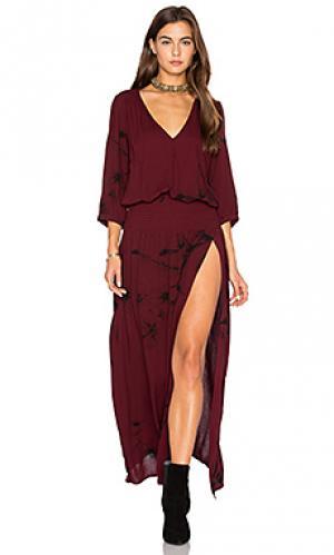 Платье wilder Stillwater. Цвет: вишня
