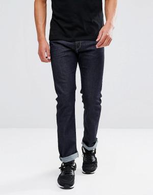 Diesel Прямые джинсы цвета индиго Waykee 084HN. Цвет: темно-синий