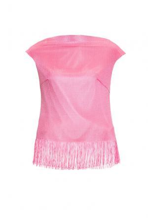 Топ из вискозы 163074 Msw Atelier. Цвет: розовый