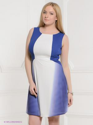 Платье La Reine Blanche. Цвет: синий, фиолетовый, белый