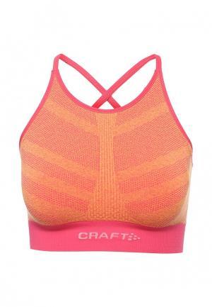 Топ спортивный Craft. Цвет: оранжевый