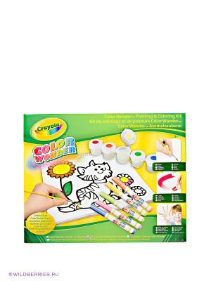 Набор для рисования и раскрашивания Color Wonder Crayola. Цвет: зеленый, желтый