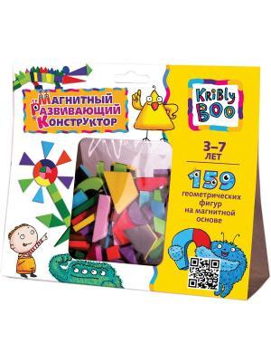 Магнитный развивающий конструктор, 159 деталей Kribly Boo. Цвет: желтый, черный, зеленый, голубой, розовый