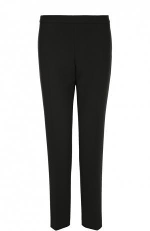 Укороченные прямые брюки со стрелками BOSS. Цвет: черный