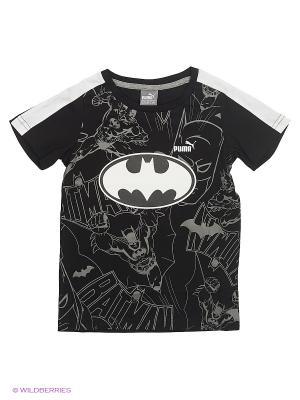 Футболка Batman Tee b Puma. Цвет: черный