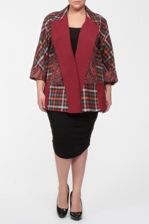 Жакет EVA Collection. Цвет: красно-коричневый