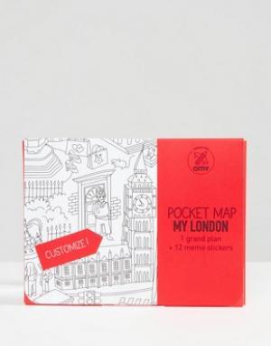 Books Карманная карта Лондона OMY. Цвет: мульти
