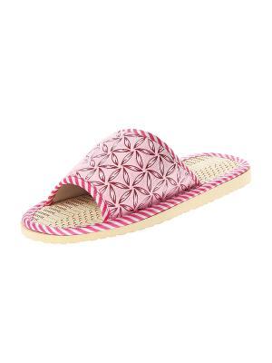 Тапочки домашние детские Migura. Цвет: розовый, белый, бежевый