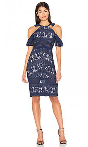 Платье inky Three Floor. Цвет: синий