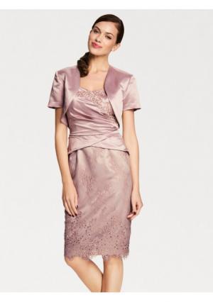 Комплект: платье + болеро ASHLEY BROOKE by Heine. Цвет: розовый