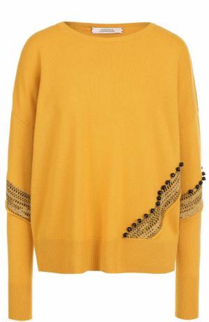 Кашемировый пуловер с круглым вырезом Dorothee Schumacher. Цвет: оранжевый