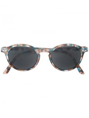 Солнцезащитные очки с круглой оправой See Concept. Цвет: синий