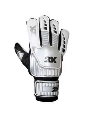 Перчатки вратарские Wittem 2K. Цвет: белый, черный, серебристый