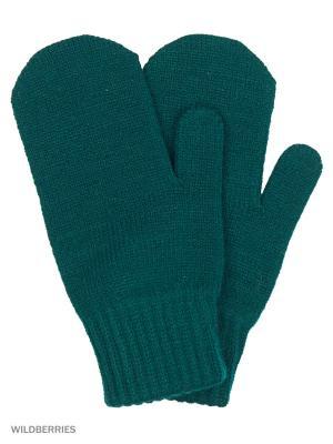 Варежки Vittorio Richi. Цвет: темно-зеленый