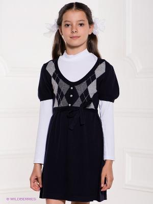 Платье SILVER SPOON. Цвет: синий, серый