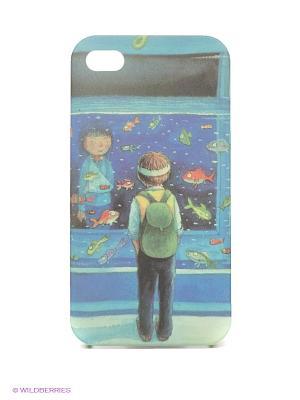 Чехол для iPhone Mitya Veselkov. Цвет: синий, серо-зеленый