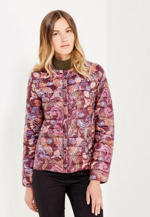 Куртка утепленная oodji. Цвет: фиолетовый
