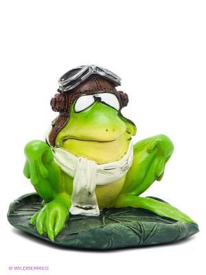 Фигурка-лягушка Летчик Яша The Comical World of Stratford. Цвет: зеленый, коричневый, серебристый