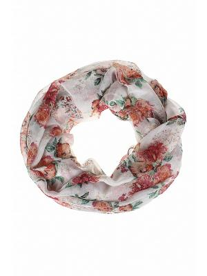 Снуд Gusachi. Цвет: розовый, белый, зеленый