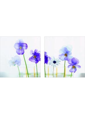 Картина модульная из квадратов ДСТ. Цвет: фиолетовый