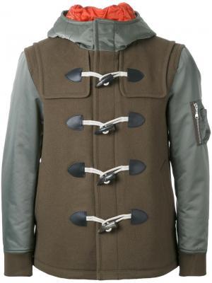 Пальто с капюшоном Guild Prime. Цвет: зелёный