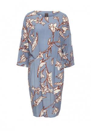 Платье Ichi. Цвет: голубой