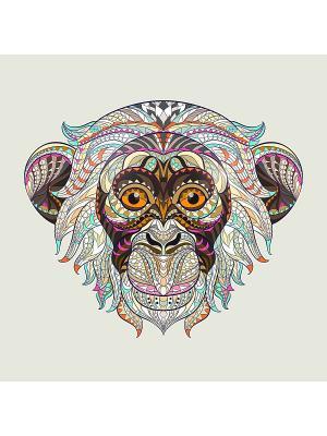 Наволочка Игривая обезьяна Матренин Посад. Цвет: бежевый