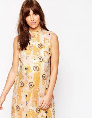 ASOS Maternity Цельнокройное платье для беременных с цветочным дизайном и пайетками A. Цвет: мульти