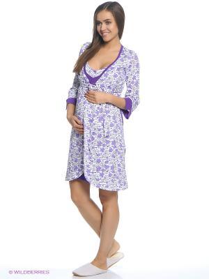 Комплект одежды EUROMAMA. Цвет: фиолетовый, белый