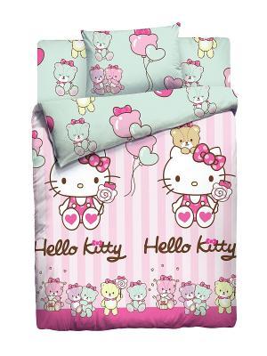 Комплект постельного белья Hello Kitty. Цвет: розовый
