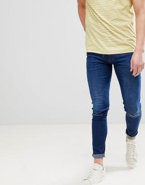 Ringspun Рваные супероблегающие джинсы. Цвет: синий
