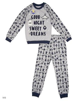 Пижама SMIL. Цвет: светло-серый