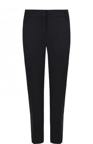 Однотонные укороченные брюки из шерсти Dorothee Schumacher. Цвет: темно-синий