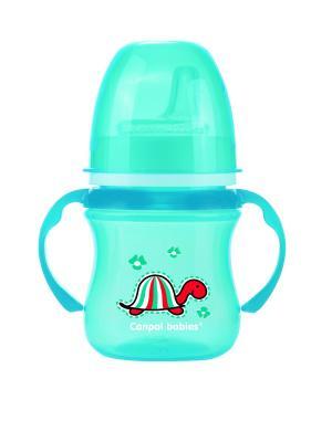 Поильник обучающий EasyStart с силиконовым носиком, 120 мл. 6+ Colourful animals Canpol babies. Цвет: голубой