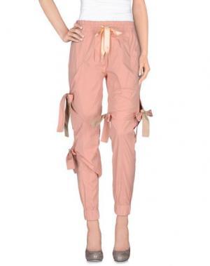Повседневные брюки NICOPANDA. Цвет: розовый