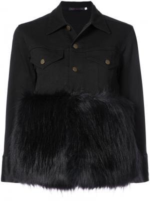 Куртка с меховой панелью Harvey Faircloth. Цвет: чёрный