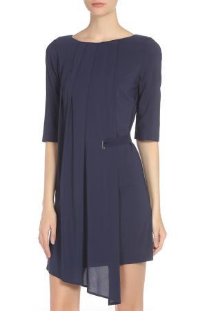 Полуприлегающее платье с молнией Whos Who Who's. Цвет: синий